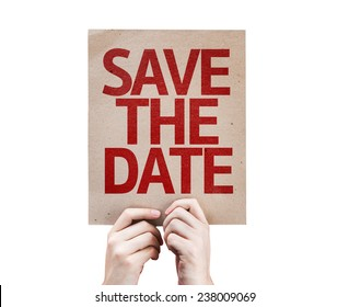 Save The Date card isolated on white background