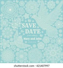 Save the date ornate design