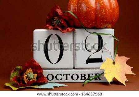 save date white block calendar october stock photo edit now