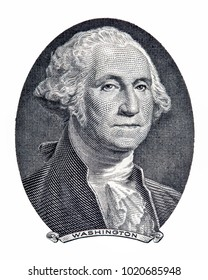 Save Download Preview Portrait of first U.S. president George Washington as he looks on one dollar bill obverse. Clipping path included.