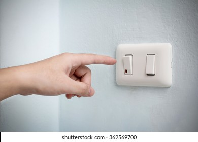 save energy/save the world - finger switch off