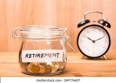Sparen Sie Geld-Fonds Pensionierung für Ihre Arbeit.