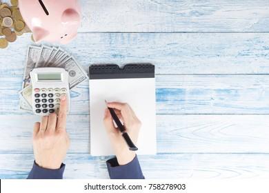 Save money, home budget concept.