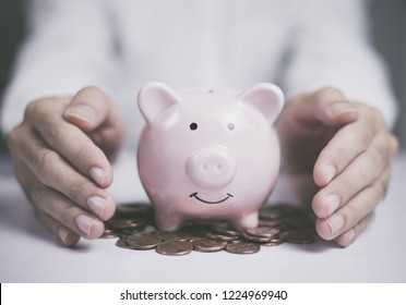 Save money or manage money. Business finance concept. Protect your money.