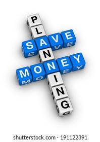save money planning crossword puzzle