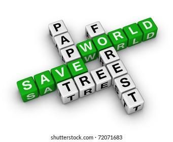 Save Paper, Save World crossword