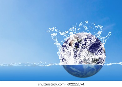 Save water concept, world water day, Elements of this image furnished by NASA