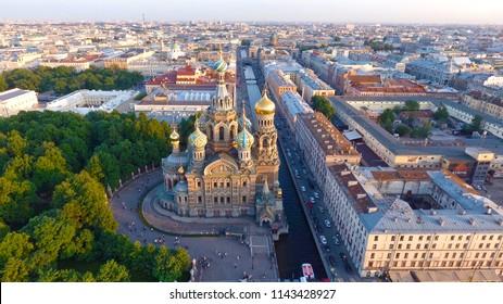 Saved on blood (Savior on Spilled Blood). St. Petersburg. Russia