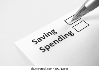 Saving or spending? Saving