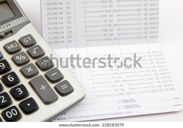 saving account passbook, Book bank statement