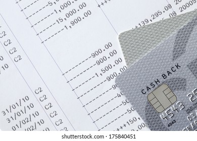 Saving account passbook with credit cards