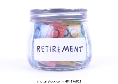 Saving Australian Money in a jar for retirement
