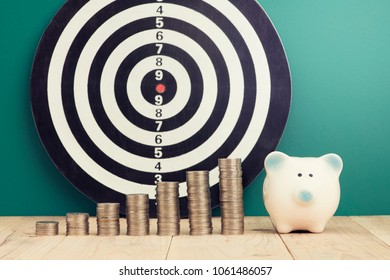 saving investment target concept