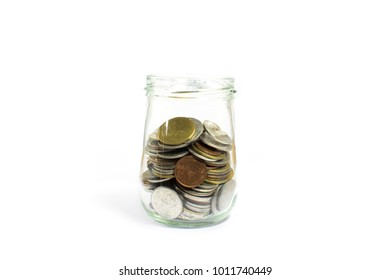 Saving money and account growth business concept. Coin thai baht.