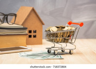 Saving money concept for buying new home for your family.