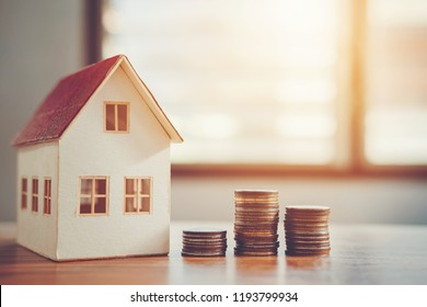 Saving money concept calculator cost for Home