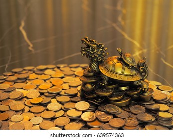 Saving money concept with Dragon turtle symbol of money