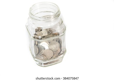 Saving money into bottle for cash in future investment