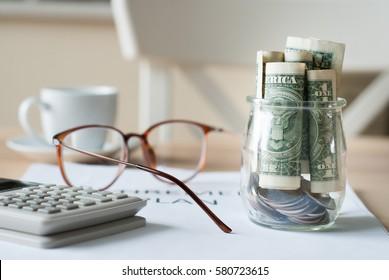 saving money for retirement plan finance concept