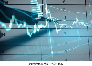 Saving money and wealth management in Stock market exchange data on LED display background, Business investment growth and trading concept.