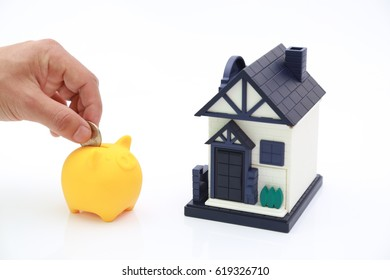 saving on piggy bank