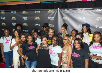 """Saving our Daughters and cast members arrive at the TV One Premiere of """" WHEN LOVE KILLS """" on Wednesday, August 9, 2017 at the Regal Atlantic Station in  Atlanta, Georgia - USA"""