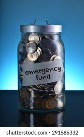 saving with purpose: jar full of coin for emergency fund