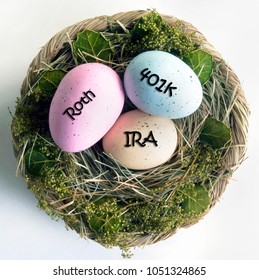Saving for retirement with IRA,401 K, and Roth