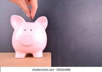 Saving for Retirement in a Pink Piggy bank