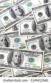 savings - a background of hundred dollar bills