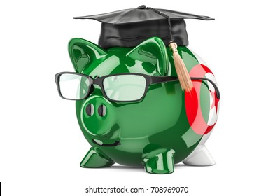Savings for education in Algeria concept, 3D rendering isolated on white background