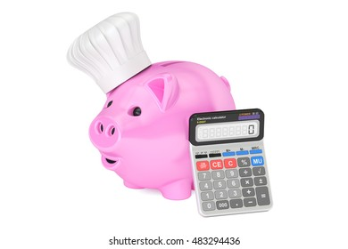 savings family budget for food and cooking concept, 3D rendering