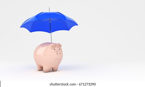 Savings Protection Concept. 3d rendering