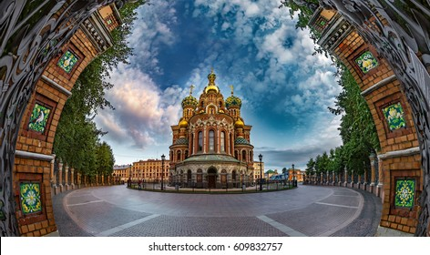 Savior on Spilled Blood. Orthodox church. St. Petersburg. The mu