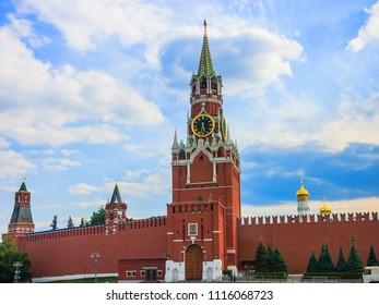 Savior Tower (Spasskaya Tower) at Moscow Kremlin