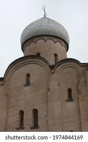 Saviour Church on Nereditsa Hill near Novgorod, Russia is 12th-century Orthodox church dedicated to the feast of the Saviour's Transfiguration consecrated in 1198
