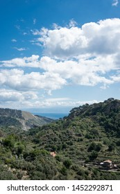 Savoca, Sicily - 05/13/2019: View of Savoca, the Godfather land in Sicily.