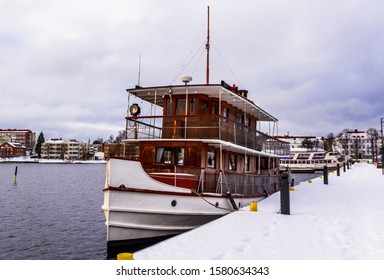 Savonlinna harbor. Steamship is the oldest steamer still doing daily sightseeing cruises on Lake Saimaa.