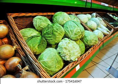 savoy cabbage in the store