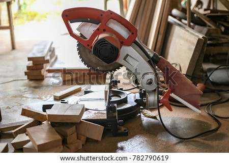 Saw Wooden Cutter Hairdressers Furniture Stock Image