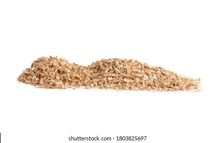sawdust piled in a pile isoilated on a white background