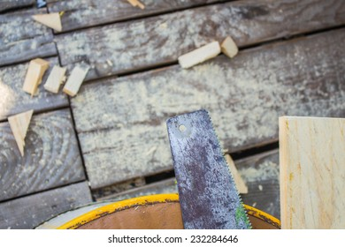 Sawing and cutting of wood