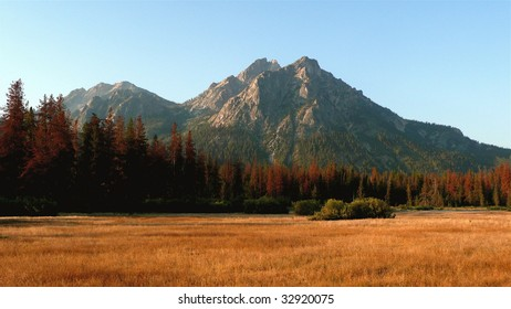 Sawtooth Mountains in Autumn Sunrise