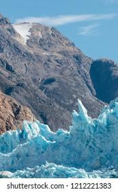 Sawyer glacier in Tracy Arm fjord near Juneau Alaska