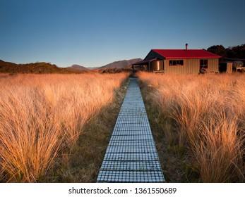 Saxon Hut, Heaphy Track, Kahurangi National Park, South Island, New Zealand