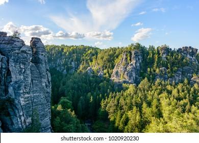 Saxony main sight - Saxon Switzerland national park, Saxony, Germany