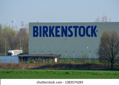 Görlitz, Saxony/Germany - April 16th 2019. Factory building of Birkenstock Productions Sachsen GmbH one of the biggest and advanced production sites of Birkenstock worldwide