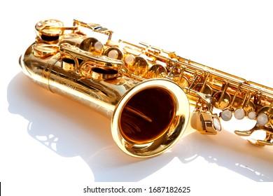 Saxophone, brass saxophone, su, gold sack Music background,