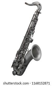 saxophone isolated under the white background