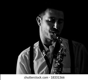 Saxophonist Series: Musician closeup